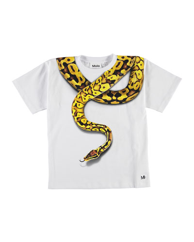 Boy's Rillo Snake Graphic Short-Sleeve Tee, Size 4-12