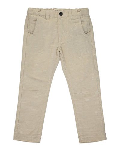 Boy's Stone Twill Trousers w/ Children's Book, Size 6-24 Months