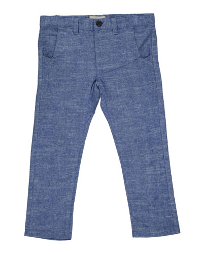 Boy's Twill Trousers w/ Children's Book, Size 3T-10