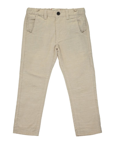Boy's Stone Twill Trousers w/ Children's Book, Size 3T-10