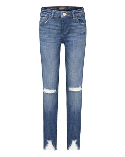 Girl's Chloe Distressed Skinny Denim Jeans, Size 2-6