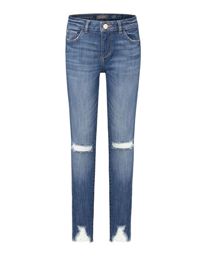 Girl's Chloe Distressed Skinny Jeans, Size 7-16