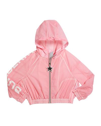 Girl's Thorley Nylon Wind Jacket, Size 3-14