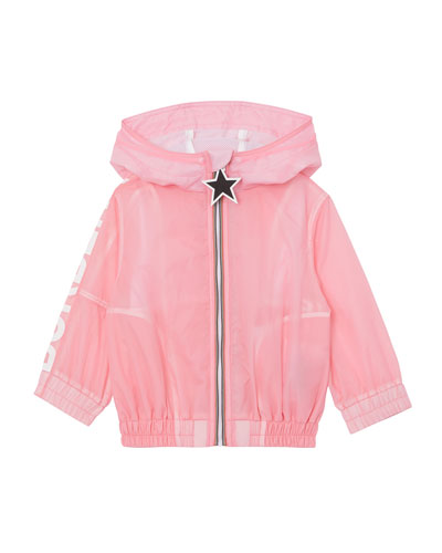 Girl's Mini Thorley Wind-Resistant Hooded Jacket, Size 12M-2
