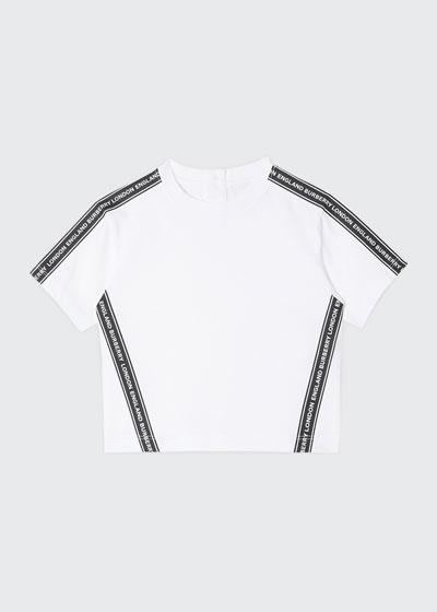 Boy's Ross Logo Tape Short-Sleeve T-Shirt, Size 6M-2