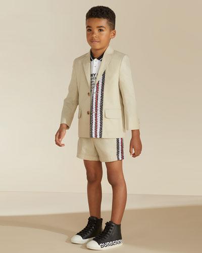 Boy's Rossal Longitude Latitude Polo Shirt, Size 3-14