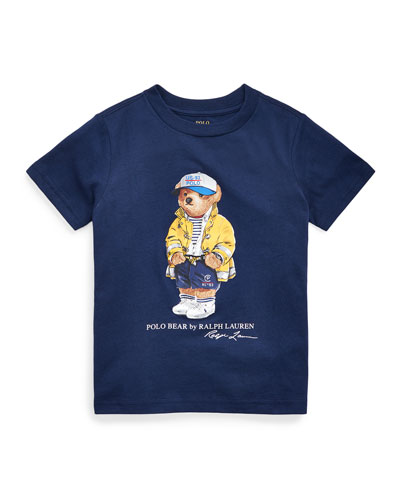 Boy's 301 Logo Bear Jersey T-Shirt, Size 5-7