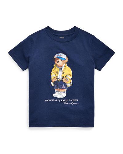 Boy's 301 Logo Bear Jersey T-Shirt, Size 2-4