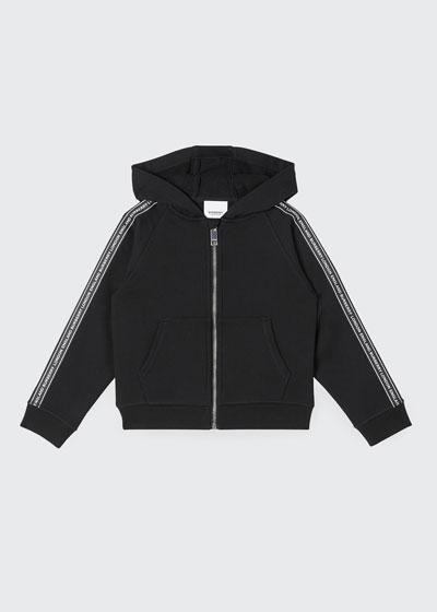 Boy's Corwyn Logo Tape Fleece Zip Jacket, Size 3-14