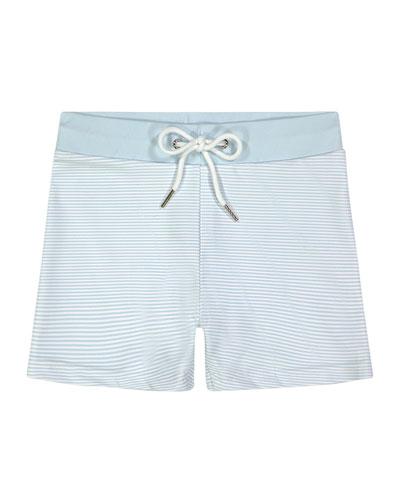 Boy's Nantucket Stripe Swim Shorts, Size 12M-8