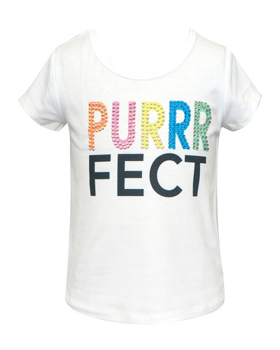 Girl's Purrrfect Short-Sleeve Tee, Size 4-6X
