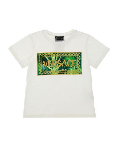Jungle-Print Graphic Tee, Size 8-14