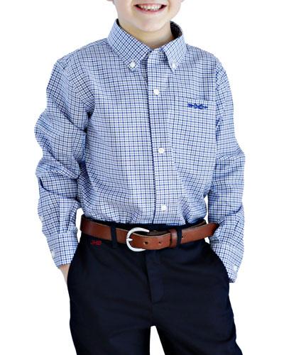 Plaid Shirt - Monogram Option, Size 4/5-18