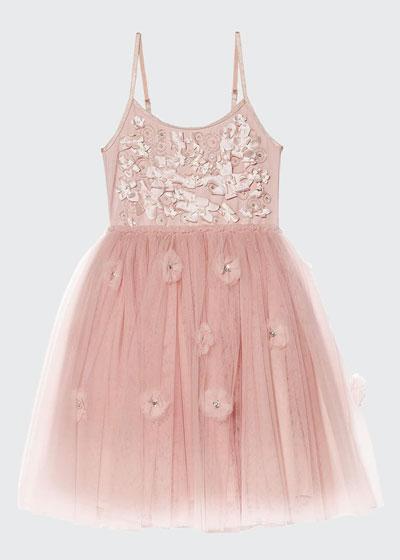 Girl's Shimmering Petals Tutu Dress, Size 2-11