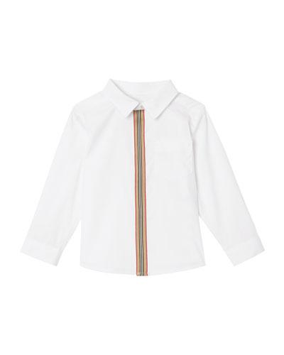 Boy's Silverton Zip-Front Long-Sleeve Shirt, Size 6M-2