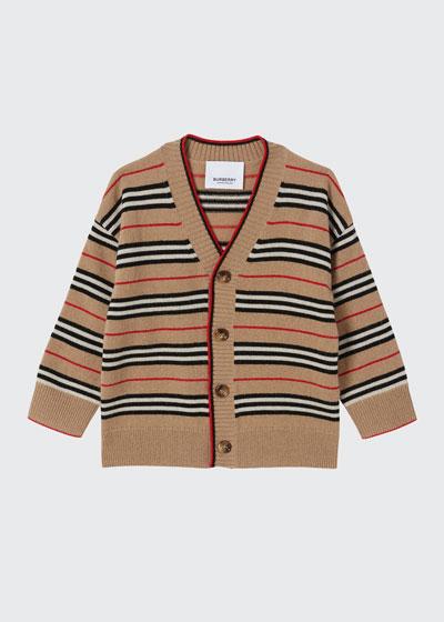Boy's Tobias Icon Stripe Cardigan, Size 6M-2