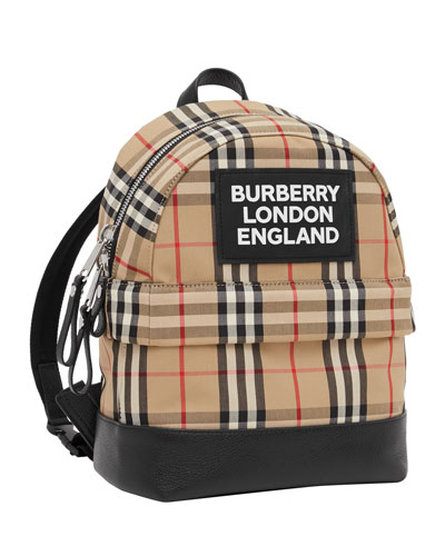 Kid's Small Nico Check Backpack
