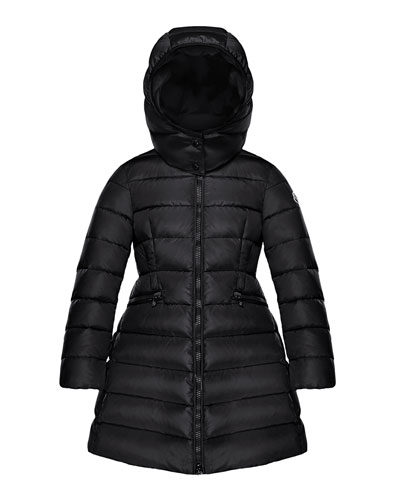 Charpal Long Puffer Coat with Detachable Hood, Size 8-14