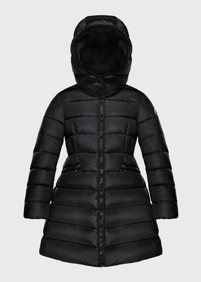 Charpal Long Puffer Coat with Detachable Hood, Size 4-6