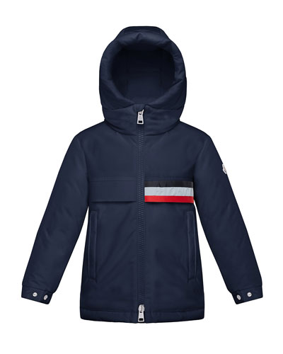 Boy's Pisace Hooded Parka Jacket, Size 8-14