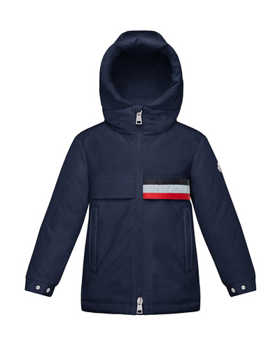 Boy's Piscace Hooded Parka Jacket, Size 4-6