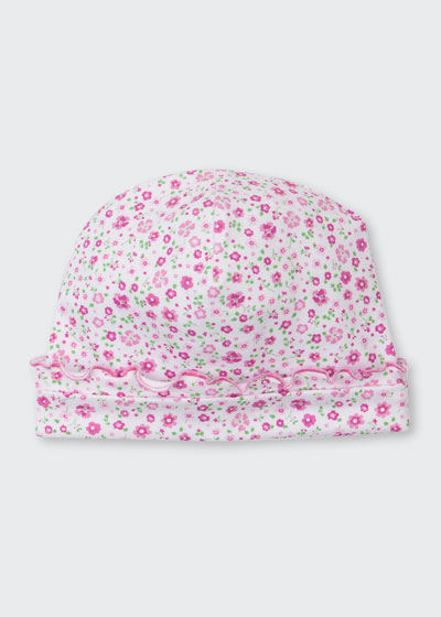 Les Petits Jardins Floral Print Baby Hat, Size Newborn-Small
