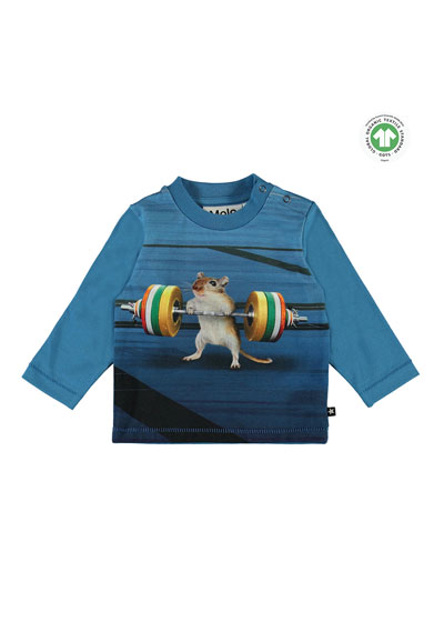 Enovan Strong Mouse Graphic T-Shirt, Size 6-24 Months