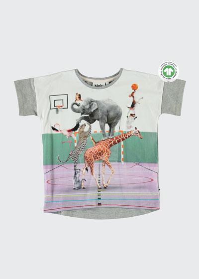 Raeesa Animal Pyramid Graphic T-Shirt, Size 3-10