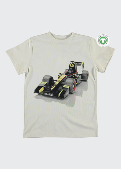 Boy's Road Race Car Graphic T-Shirt, Size 4-12