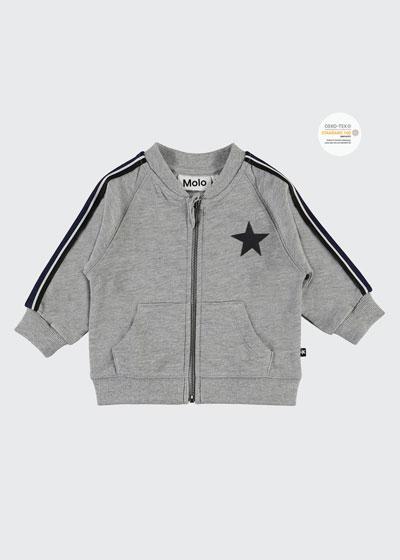Daylo Heathered Zip-Front Jacket, Size 12-24 Months