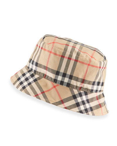 Vintage Check Bucket Baby Hat, Size 1-18 Months