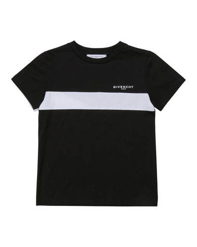 Boy's Chest Stripe Logo T-Shirt, Size 4-10