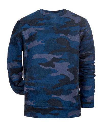 Boy's Feature Long-Sleeve Camo Shirt, Size 2-14