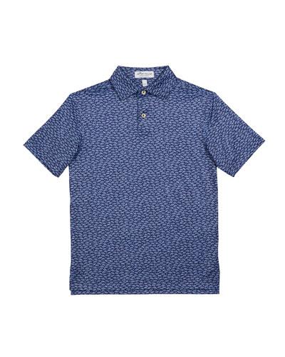 Boy's Fillmore Cars Printed Performance Polo Shirt, Size XXS-XL