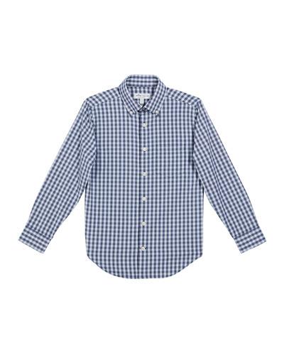 Boy's McCoy Gingham Performance Shirt, Size XXS-XL