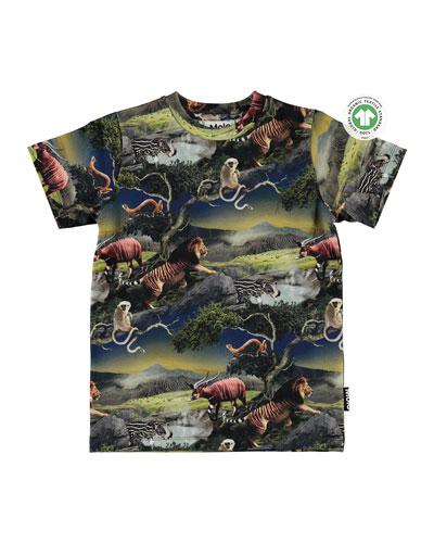 Boy's Ralphie Merged Animals Short-Sleeve T-Shirt, Size 4-10