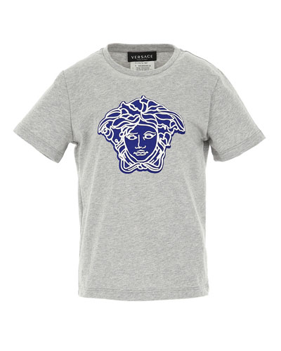 Boys' T-Shirt with Contrast Medusa, Size 4-6