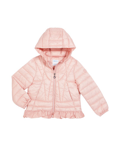Girl's Lightweight Quilted Puffer Jacket, Size 4-8