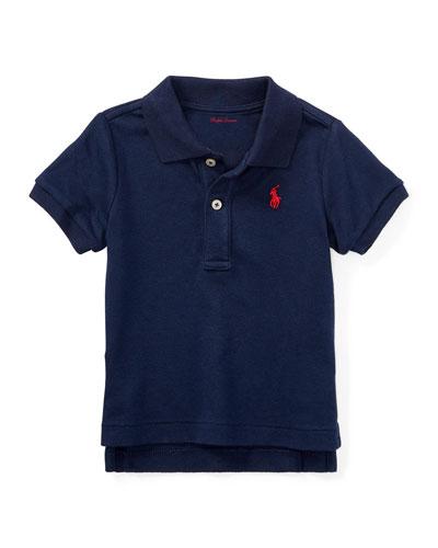 Interlock Polo Knit Shirt, Size 3-24 Months