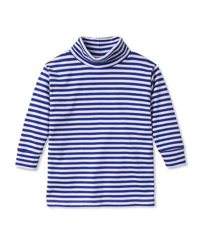 Boy's Patrick Striped Turtleneck Shirt, Size 3M-10