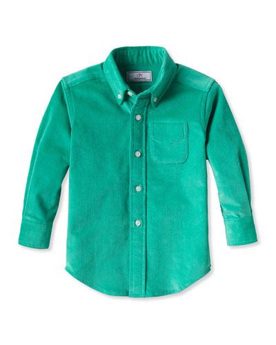 Boy's Owen Corduroy Button-Down Shirt, Size 2-14