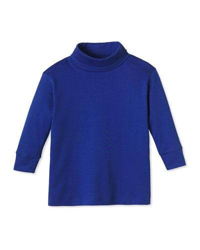 Boy's Patrick Long-Sleeve Turtleneck Shirt, Size 2-10
