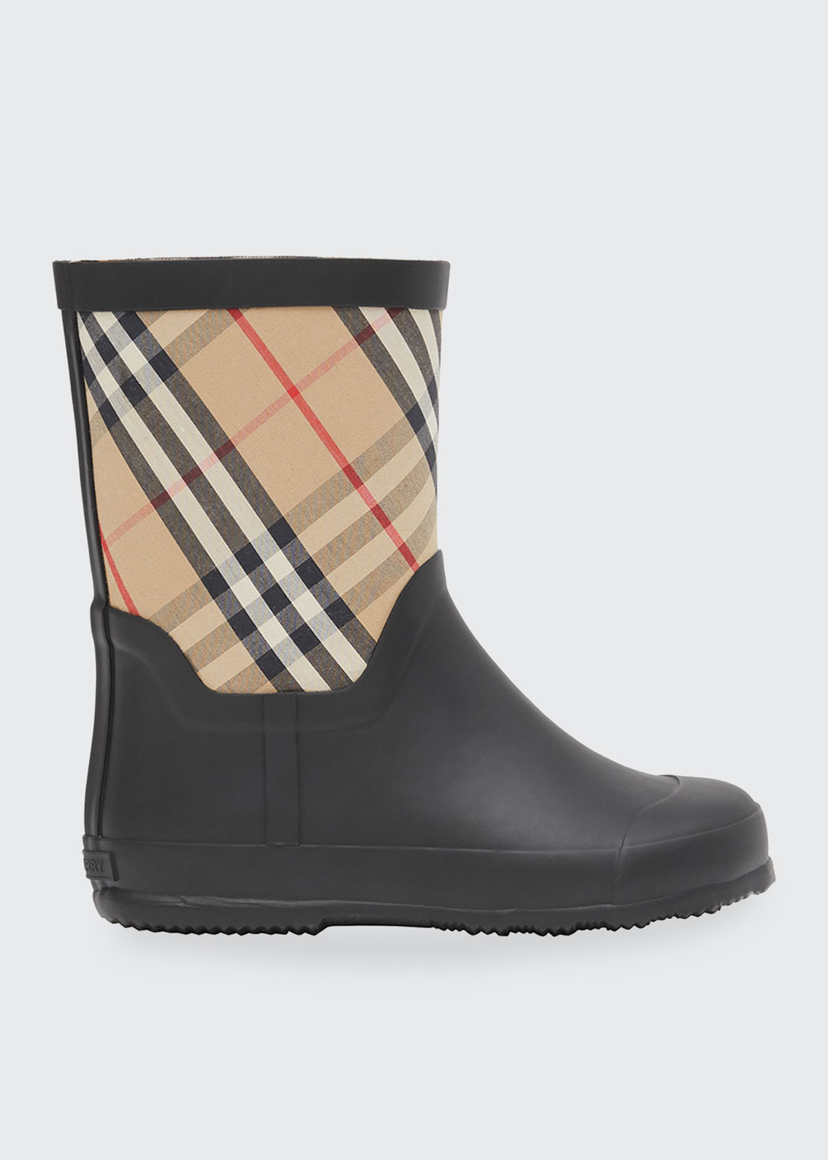 Burberry RANMOOR VINTAGE CHECK RAIN BOOTS, TODDLERS