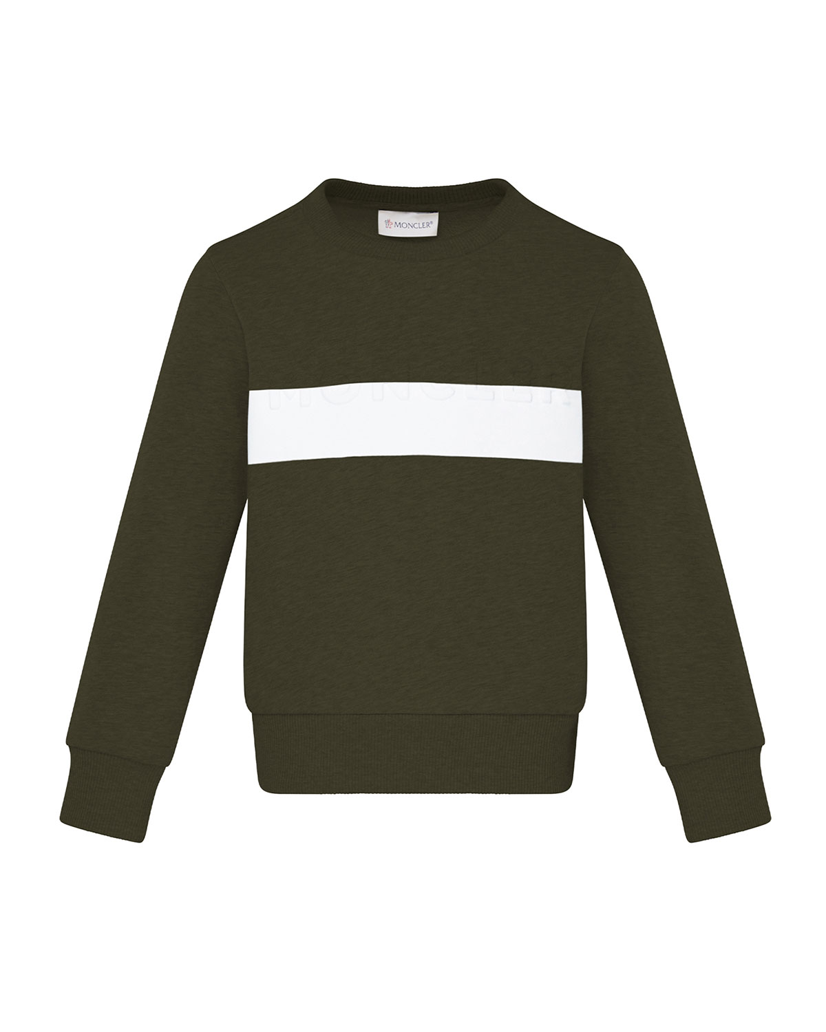 Moncler BOY'S CONTRAST TAPED CREWNECK SWEATER