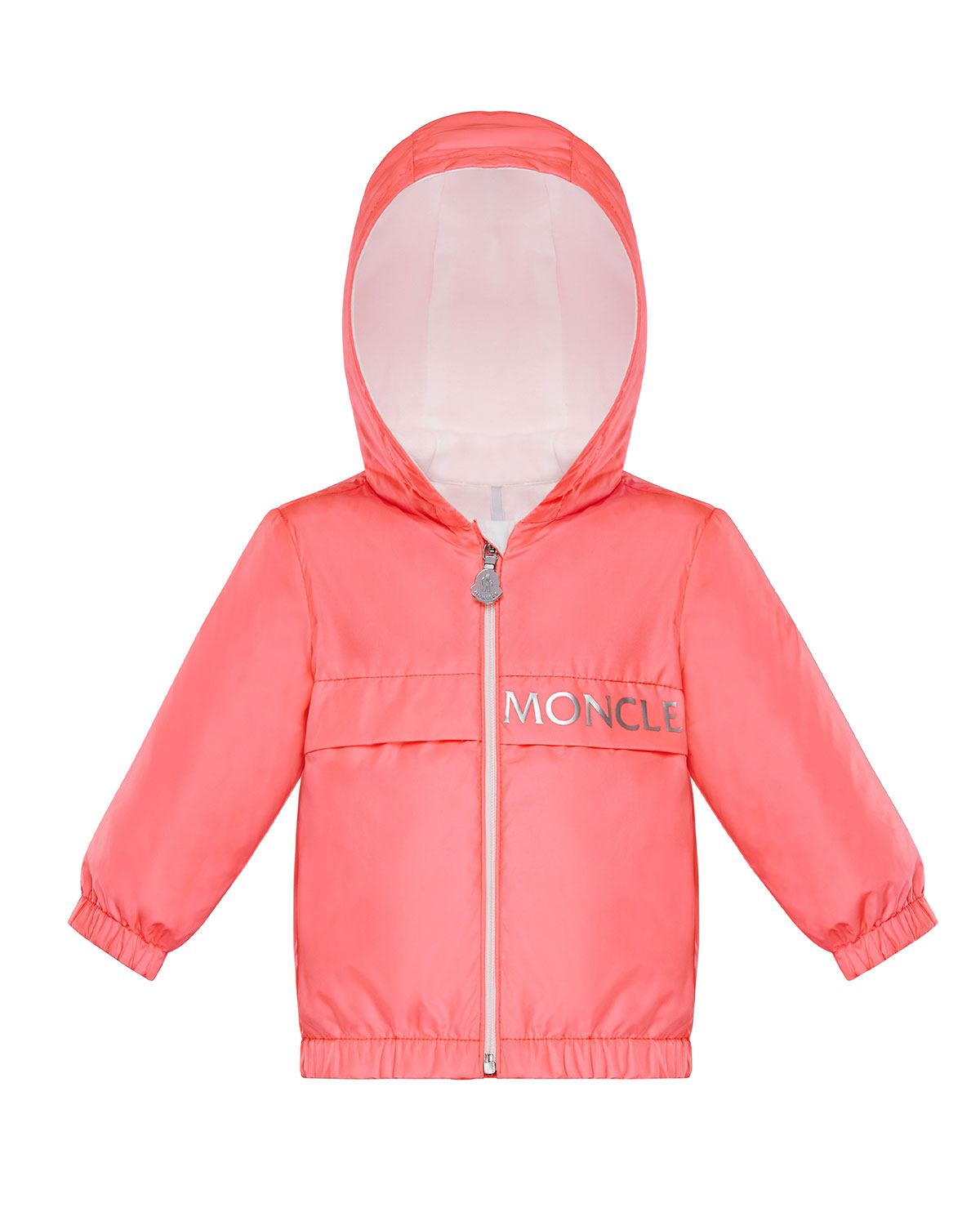 Moncler BOY'S ADMETA HOODED LOGO ZIP-UP JACKET