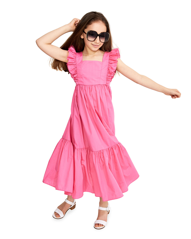 Bardot Junior Dresses GIRL'S TIERED RUFFLE MAXI DRESS