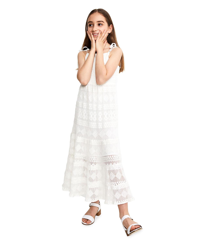 Bardot Junior GIRL'S PAIGE EMBROIDERED MESH MAXI DRESS