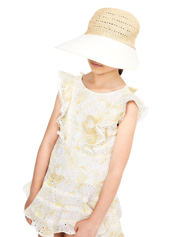 Bardot Junior GIRL'S SADIE FLORAL-PRINT LACE RUFFLE DRESS