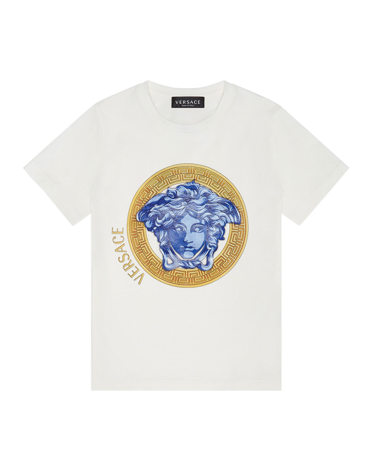 Versace GIRL'S MEDUSA AMPLIFIED SHORT-SLEEVE SHIRT