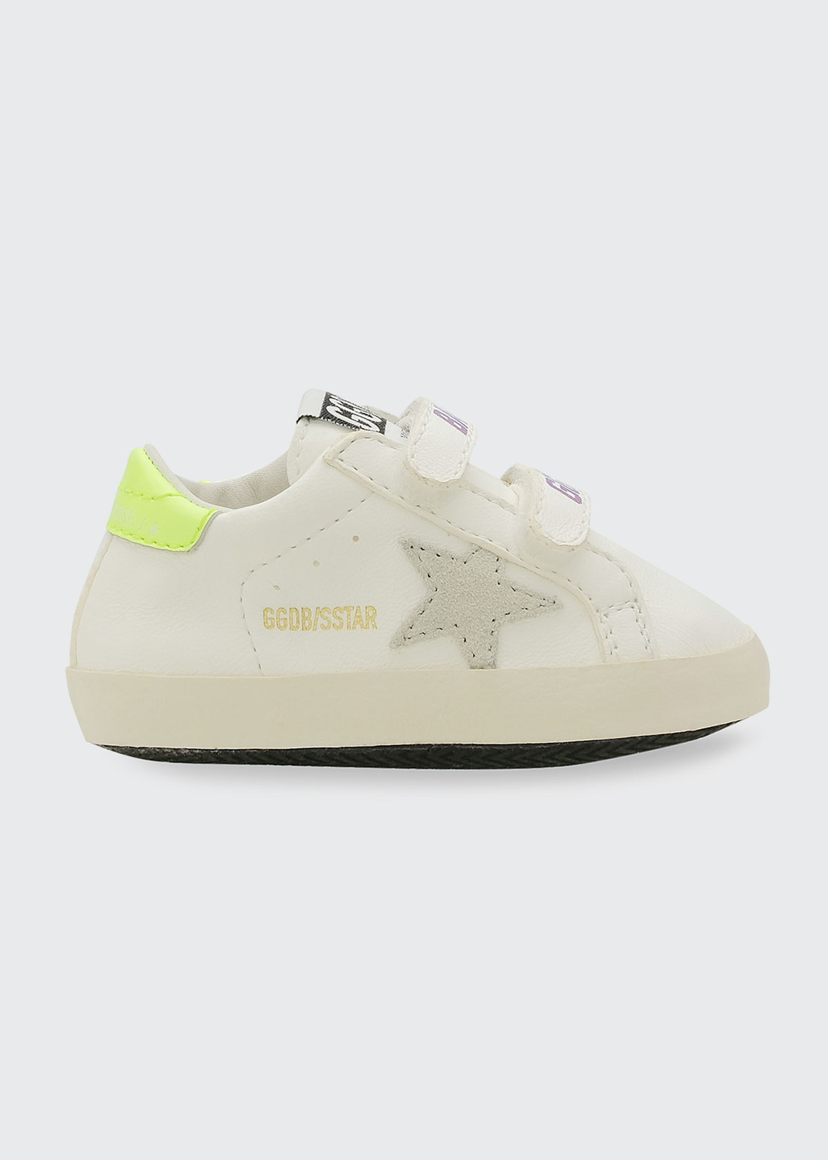 Golden Goose GIRL'S OLD SCHOOL GRIP-STRAP SNEAKERS, BABY SIZES 0-9 MONTHS